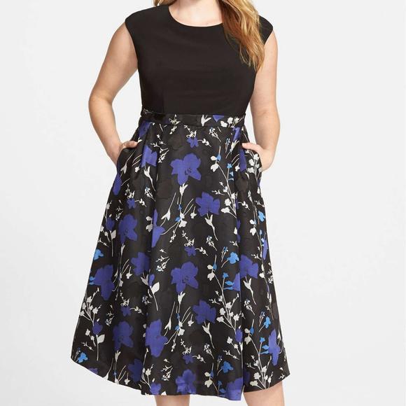 797cccf0d45b Alex Evenings Dresses | Floral Print Tea Length Dress | Poshmark